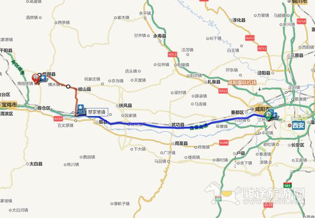 陕西省凤翔县城地图