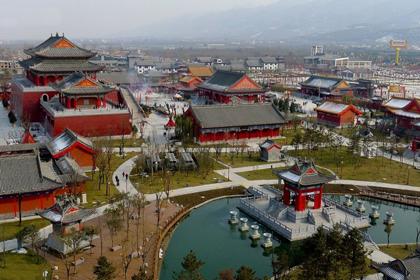 赵公明财神庙全景图