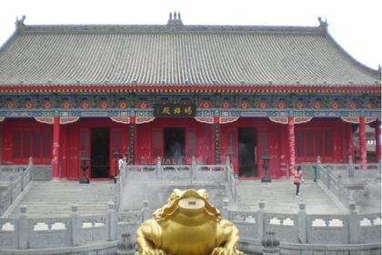 赵公明财神庙亮点之一的妈祖殿